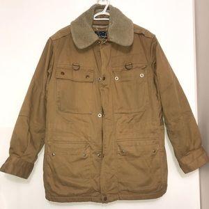 Henry Christian Tan Sheepskin Lamb FurLined Jacket